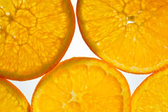 Orange Fruit Abstract. Slices of orange close up for background Stock Photo