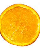 Orange Fruit Abstract. A slice of orange close up for background Stock Images