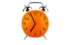 Orange Fruit Alarm Clock Stock Image