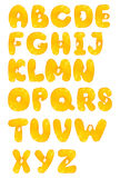 Orange fruit alphabet Stock Photos