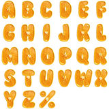 Orange fruit alphabet. Stock Photo
