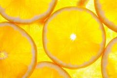 Orange fruit background. Back light Stock Photo