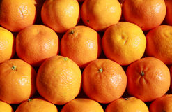 Orange fruit background. In the market Royalty Free Stock Photos