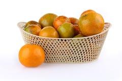 Orange fruit in basket Royalty Free Stock Image