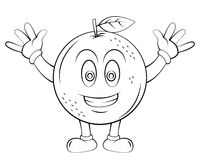 Orange Fruit Cartoon Royalty Free Stock Images