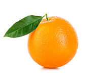 Orange fruit close-up  on a white background Stock Photography