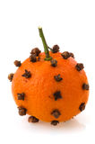 Orange fruit with cloves Stock Photo
