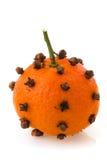 Orange fruit with cloves Stock Photo