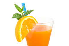 Orange fruit cocktails Stock Photo