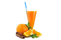 Orange fruit cocktails Stock Image