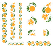 Orange fruit colored fragmented ornament Royalty Free Stock Photos
