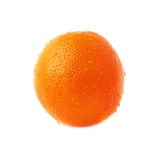 Orange fruit covered with the multiple water drops Royalty Free Stock Photography