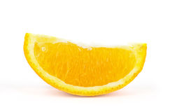 Orange fruit cut on white Royalty Free Stock Photography