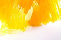 Orange fruit extreme close-up stock photo