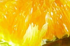 Orange fruit extreme close-up Royalty Free Stock Photos