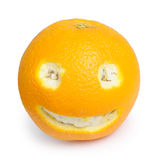 Orange fruit face Stock Photos