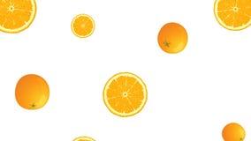 Orange fruit falling in Looping  stock footage