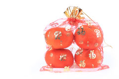 Orange fruit of fortune in chinese new year Royalty Free Stock Images