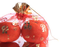 Orange fruit of fortune in chinese new year Stock Image