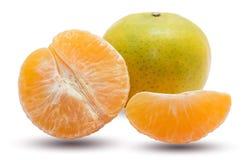 Orange fruit fresh isolated on white background Stock Image