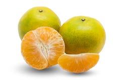 Orange fruit fresh isolated on white background Stock Photography