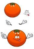 Orange fruit with glossy peel cartoon character Stock Photo