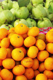 Orange fruit  and guava fruit in the market Stock Photography