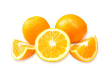 Orange fruit isolated Stock Photography