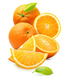 Orange fruit isolated Royalty Free Stock Images