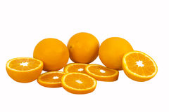 Orange fruit isolated Royalty Free Stock Photography