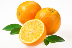 Orange fruit isolated on white Royalty Free Stock Images