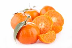 Orange fruit isolated Stock Photo