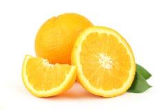 Orange fruit isolated on white. Stock Image