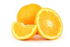 Orange fruit isolated on white. Stock Photos