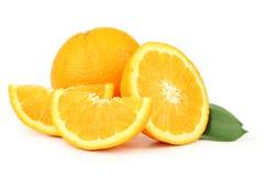 Orange fruit isolated on white. Stock Photo