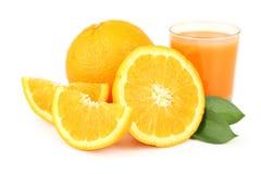 Orange fruit isolated on white. Stock Images