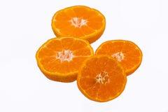 Orange fruit isolated on white Royalty Free Stock Image