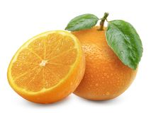 Orange fruit isolated on white background.  stock photo