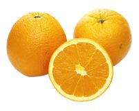 Orange fruit isolated on white background. Stock Images