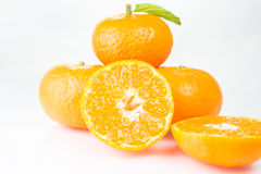 Orange fruit. Isolated on white background Stock Images