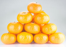 Orange fruit. Isolated on white background Stock Photos