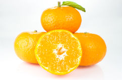 Orange fruit. Isolated on white background Royalty Free Stock Photos