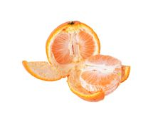 Orange fruit isolated on white Stock Image