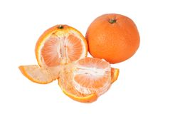 Orange fruit isolated on white Royalty Free Stock Photography