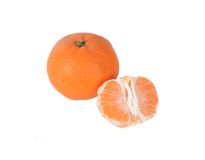 Orange fruit isolated on white Stock Photos