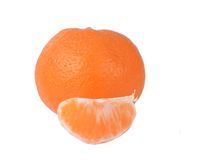 Orange fruit isolated on white Stock Images