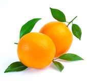 Orange fruit isolated on white background Stock Images