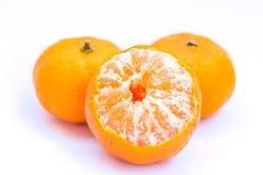 Orange fruit isolated on white background Stock Image