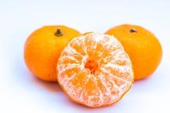 Orange fruit isolated on white background Stock Photos