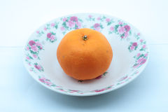 Orange fruit. Isolated on white background Royalty Free Stock Photo